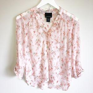 Cynthia Rowley | Women's Pink Floral Print Blouse